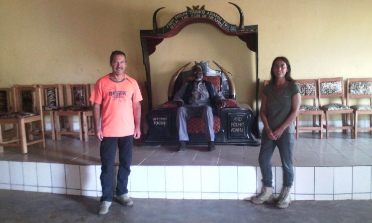 Italian couple Tiziana and Ezio COZZI, donates drugs to Donga Mantung in Cameroon